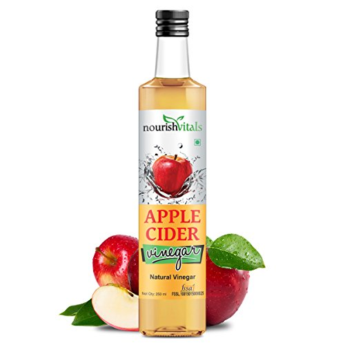 Nourish Vitals Apple Cider Natural Vinegar 250ml Pure Filtered  available at amazon for Rs.149
