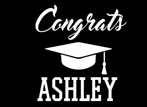 Congrats Ashley: Graduation Cap Guest Signing Book For Party, Personalized Gift. Graduate Advice or Autograph Book Lined. (Tassel Zone) -