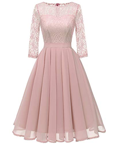 Frauen 50er Jahre Retro Vintage Country Rock Cocktail Abendkleid Herbst Winterkleid