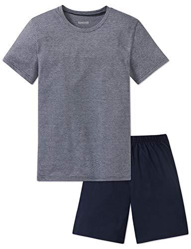 Schiesser Jungen Anzug kurz Zweiteiliger Schlafanzug, (Blau 800), 152 (Herstellergröße: S)