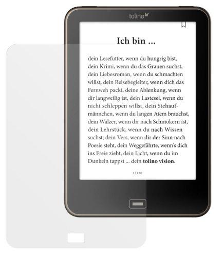 dipos Tolino Vision Schutzfolie (2 Stück) - Antireflex Premium Folie matt passend für den neuen eBook Reader von Weltbild, Thalia und Hugendubel