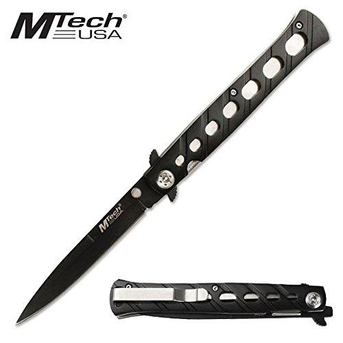 Armeeverkauf MTech USA schwarzes Stilett Faltmesser Edelstahl MT-317