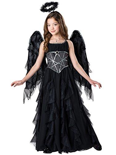 InCharacter Dark Fallen Angel Girls Halloween Costume ()