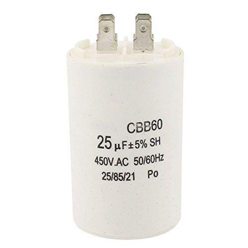 Preisvergleich Produktbild Kondensator - TOOGOO(R)CBB60 25uF 450VAC AC Motor Betriebskondensator fuer Waschmaschine