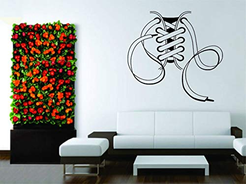 wandaufkleber 3d Wandtattoo Wohnzimmer Decor Art Sticker Schnürsenkel Schuhe Stiefel Sneakers Beliebt für Wohnzimmer Schlafzimmer - Sneakers Beliebten