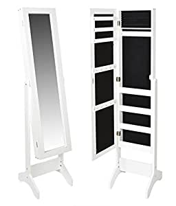 schminkschrank gro er spiegel schrank vitrine landhaus schmuckkommode in wei k che. Black Bedroom Furniture Sets. Home Design Ideas