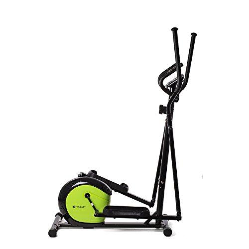 Fitkraft Slimline Vélo Elliptique Mixte Adulte, Noir/Vert, M