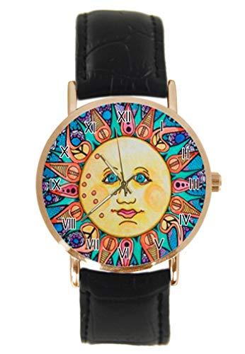 Tie Dye Hippie Hippie Reloj de Pulsera de Moda, clásico, Unisex, anal