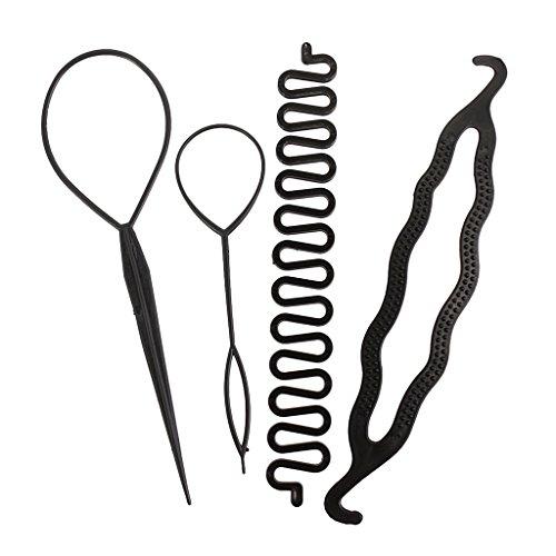 Haar-Styling-Clip-Stick Brötchenhersteller Geflecht Werkzeug ()
