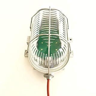 Saunaleuchte LED ohne Blendschirm, bis +125°C, Wasserfest IP44, mit Netzteil und 4m Silikonkabel, Osram LEDs Warm-Weiss 2700K, 2.3W, 290 lm. Umweltfreundliche und Energieeffiziente Glühlampennachfolger für Sauna von artvion.