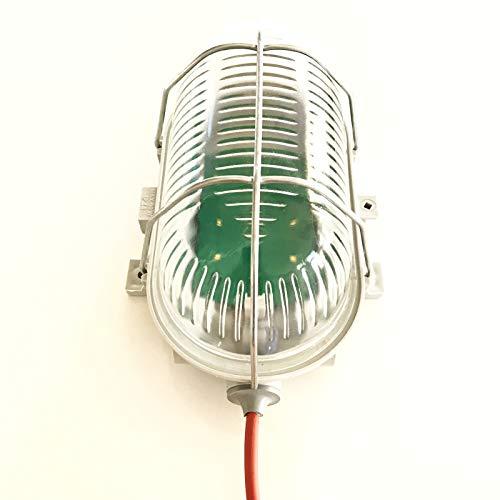Saunaleuchte LED ohne Blendschirm, bis +125°C, Wasserfest IP44, mit Netzteil und 4m Silikonkabel,...