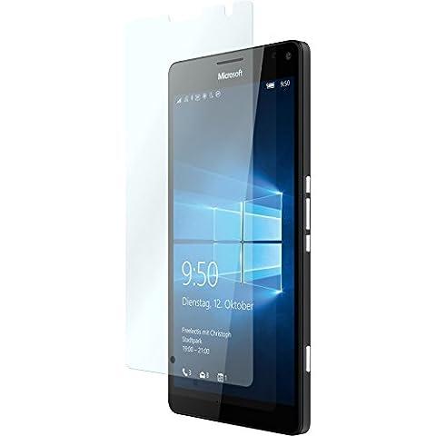 3 x Glas-Folie klar für Microsoft Lumia 950 XL PhoneNatic