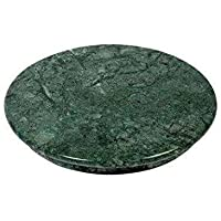 CraftedOne Green Marble Chakla/Marble Roti Maker/Marble Rolling Board,Large Size 9 Inch (22 cm)