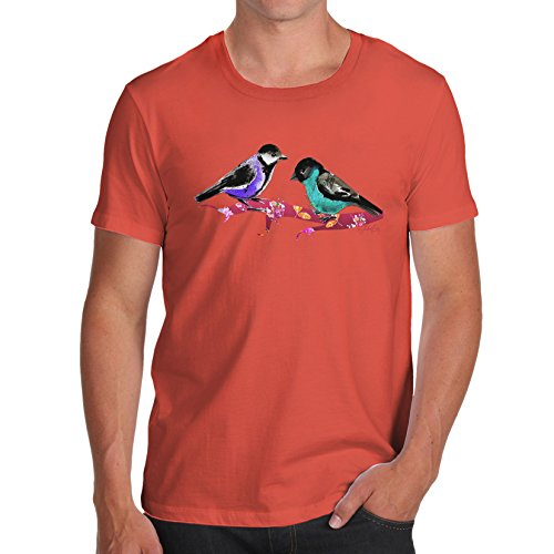Herren Pretty Birds T-Shirt Orange