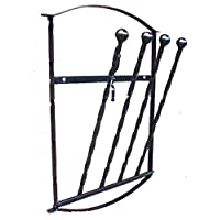 Wimborne wrought iron works Wall Mounted Wellington Boot Holder Rack 2 Pair