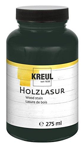 Kreul 78218 - Holzlasur ebenholz, 275 ml Glas, schwarz (Malen Grundierung Außen)