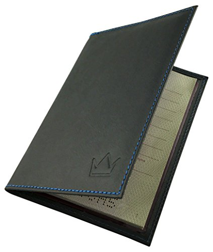 Lederprinz - Funda de pasaporte, Negro (Negro) - LP019