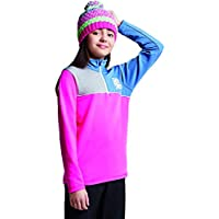 Dare 2b Foray Core Half Zip Quick Drying Kids Top Capa Intermedia elástica, Infantil, Cyber Pink/Astronomy Blue, Talla 3-4