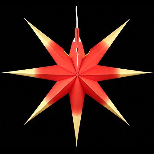 fensterstern Weihnachtsstern, Fensterstern - Annaberger Faltstern - Buchbinderei Kraft Rot-Gelb