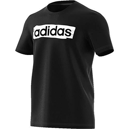 Performance-grafik-t-shirt (adidas Performance Linear Brush T-Shirt Herren schwarz/weiß, XL (56/58 EU))