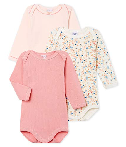 venta minorista 20a38 c0d5f Petit Bateau Baby-Mädchen ML_4995000 Formender Body, Mehrfarbig (Variante 1  00), 68 (Herstellergröße: 6M/67cm) (3erPack