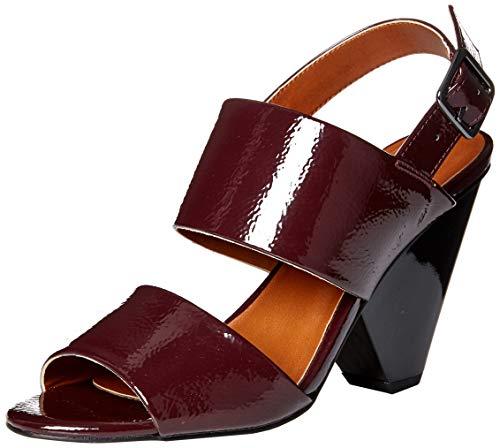 Franco Sarto Damen Eiffel Sandalen mit Absatz, Deep Merlot, 35.5 EU (Franco Sarto Schuhe Frauen)