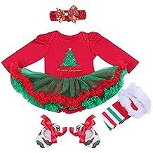 BabyPreg Niñas bebés Mi Primera Navidad Traje de Santa del Partido del ...