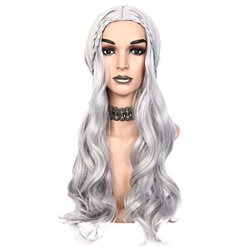 HCFKJ Perücke, 2019 30 Zoll Lange lockige gewellte synthetische Haar Perücken Frauen Mädchen Cosplay Perücken für Kostüme ()