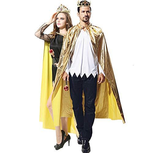 Blisfille Halloween Kostüm Mantel Erwachsene König Mantel Erwachsene -