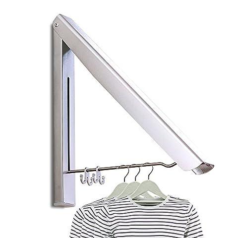PUNICOK Kleiderhaken Klappbarer Kleiderhaken Wand-Garderobenhaken Garderobenhaken Wandhaken, Silber für Wohnzimmer, Bad, Schlafzimmer, Büro, Silber (
