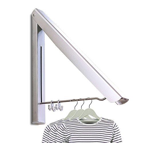 PUNICOK Kleiderhaken Klappbarer Kleiderhaken Wand-Garderobenhaken Garderobenhaken Wandhaken, Silber für Wohnzimmer, Bad, Schlafzimmer, Büro, Silber ( 40*33*30CM)