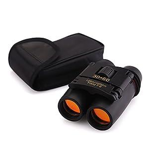 AGM Jumelles de Vision Nocturne Zoom Mystère 30X60 Jumelles Télescopes Membrane Portable Repliable Longue Portée pour Camping Randonée Golf Chasse Pêche Concert Match sportif Observation des oiseaux , etc