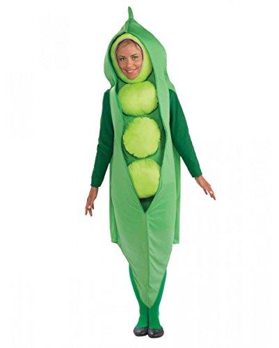 Horror-Shop Reifes grünes Erbsen Unisex Kostüm für Gruppen -