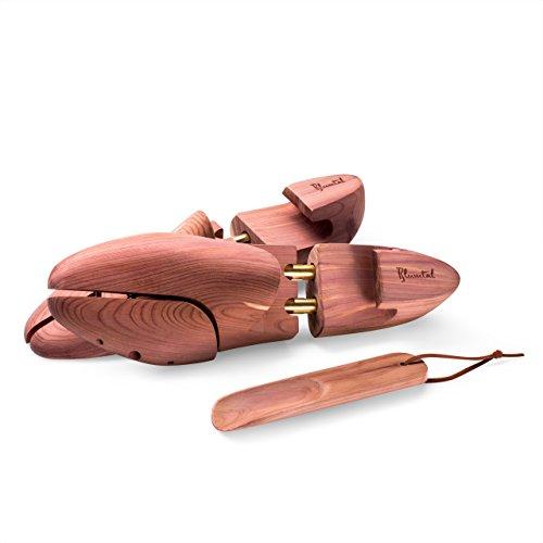 Produktbild Hochwertiger Schuhspanner aus Zedernholz - inkl. Schuhlöffel,  Atmungsaktiv,  für Damen und Herren,  Braun