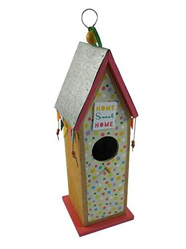 Vogelhaus zum Hängen - Holz - 16cmx12cmx40cm - Bunt