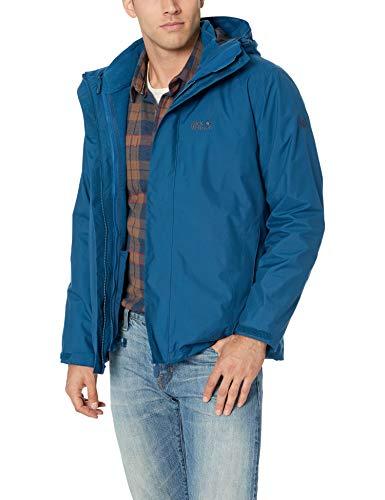 Jack Wolfskin Iceland 3in1 Men, Ganzjahresversion einer Outdoor Jacke für Herren, wind- und wasserdichte Winterjacke für Herren, Regenjacke für Herren mit Fleece