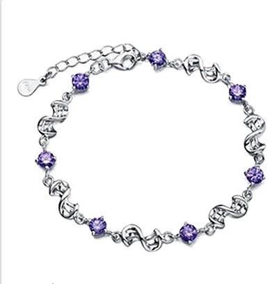 Festa della Donna Regalo Sweet Purple strass Con