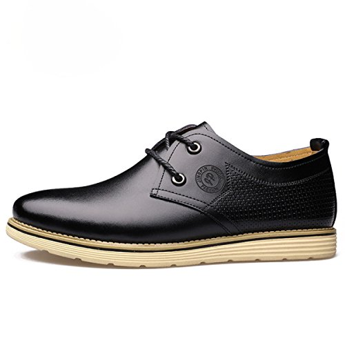 Mode Hommes Chaussures Angleterre Ronde Tête Souliers Souliers Simple Chaussures Hommes Noir Dentelle Chaussures