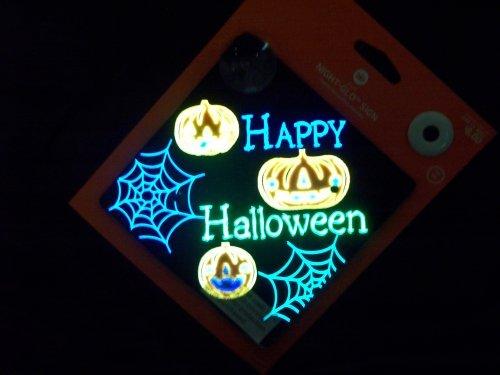 Gemmy Night Glo Sign - Jacks - Happy Halloween by Gemmy