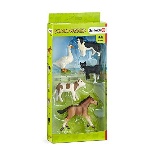 Schleich 42386 - Farm Word Tier-Mix - Spielzeug (Spielzeug Ziege Hund)