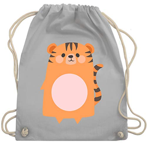 Karneval & Fasching Kinder - Kostüm Fasching Tiger - Unisize - Hellgrau - WM110 - Turnbeutel & Gym Bag
