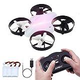 ONIPU Mini Drohne, RC Quadcopter 2.4GHZ 4CH 6 Achsen 3D Flips Headless Modus mit LED-Leuchten Gadgets Geschenke Indoor Outdoor Spielzeug für Kinder Jungen Mädchen (Mini Drone White)