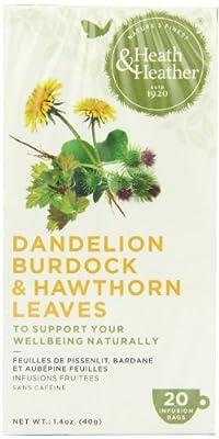 (2 Pack) - Heath And Heather - Dandelion Burdock & Hawthorn | 20 Bag | 2 PACK BUNDLE from HEATH & HEATHER