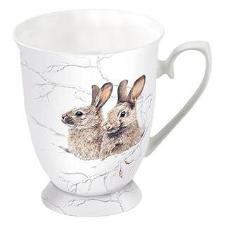 Ambiente Christmas Mug Winter Morning Rabbits Mug 0.25L Fine Bone China