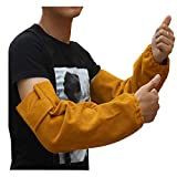 Cuero Mangas de brazo de soldadura resistentes al calor Manguito elástico Trabajo de seguridad Protección de brazo de protección resistente a las chispas