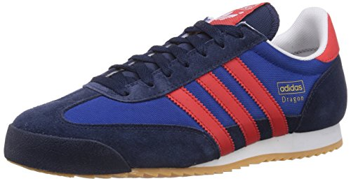 adidas Originals Dragon, Herren Sneakers, Blau (Collegiate Navy/Red/Collegiate Royal), 42 2/3 EU (8.5 Herren UK) (Adidas Dragon Originals)