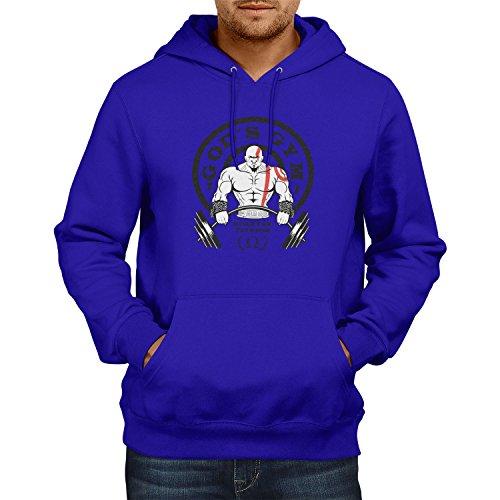 TEXLAB - God's Gym Spartan Gym - Herren Kapuzenpullover, Größe XL, marine
