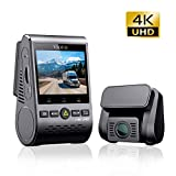 VIOFO A129 Pro Duo 4K Dash Cam Wi-Fi Telecamera per Auto Doppia 3840 * 2160P Ultra HD 4K Sony 8MP Sensore GPS, Modalità Parcheggio Bufferizzato, G-sensor, Motion Detection, WDR, Registrazione in loop