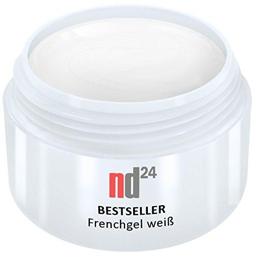 15ml - nd24 BESTSELLER - FRENCH-GEL white weiß - UV Nagelgel - Made in Germany (Uv Weiß Gel-nagel)