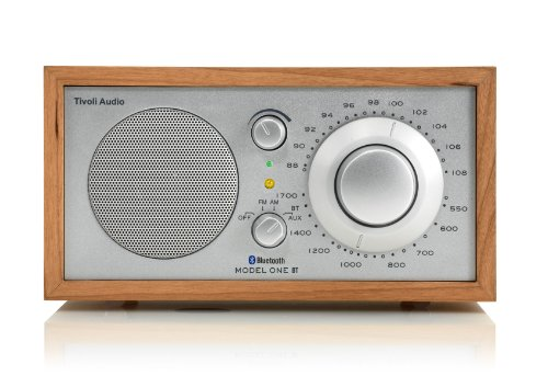 Tivoli Audio Model One BT - Am/FM Radio de Mesa con Bluetooth para transmisión inalámbrica - Cherry/Silver